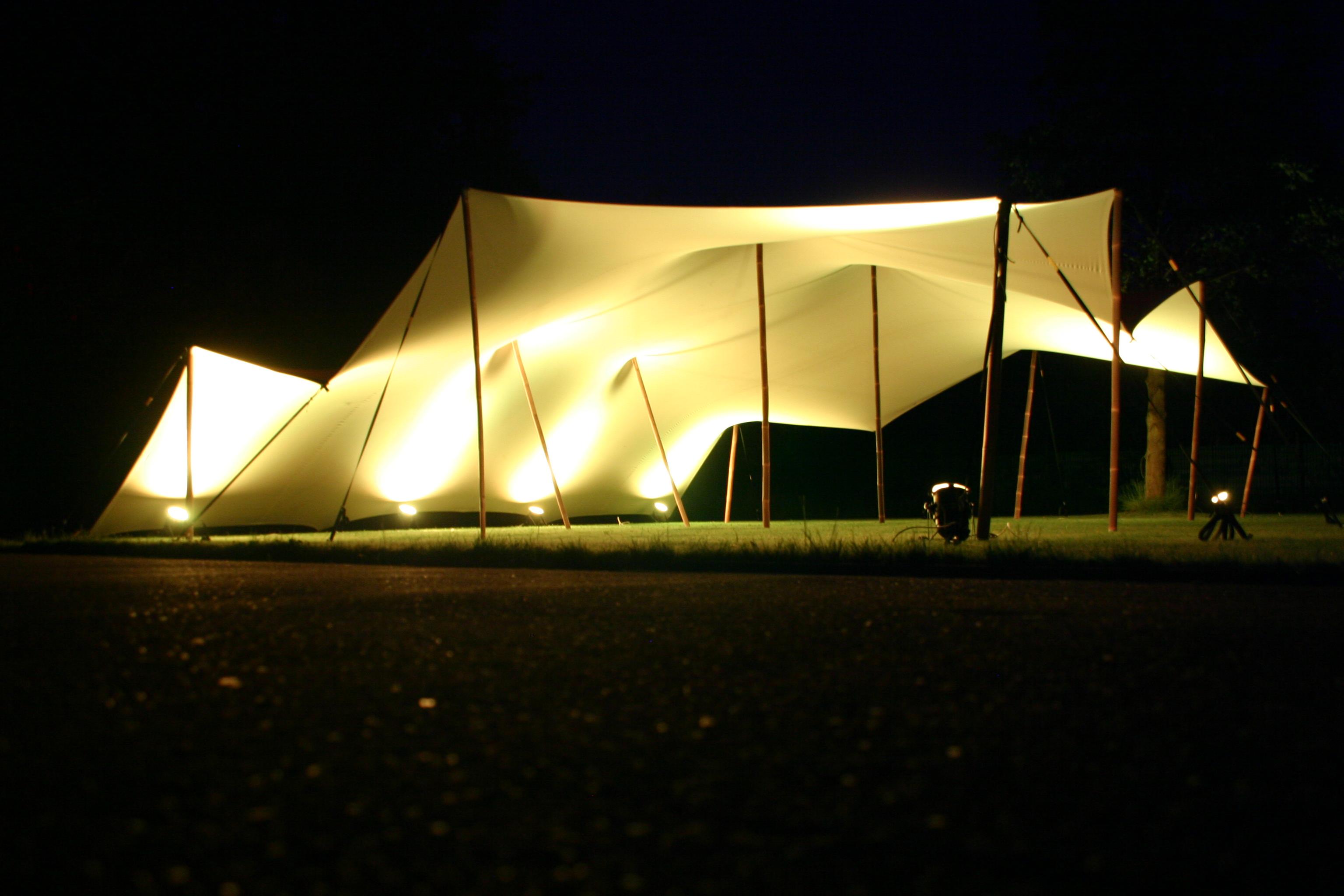 Verlichting tentenverhuur   starshade pagodetenten stretchtenten ...